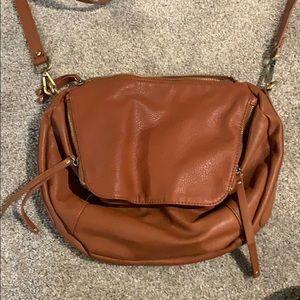Free People brown cross-body purse